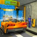 Moderne Automechaniker Autowaschservice