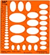 Graphoplex Trace Ellipses 35° Orange Transparent