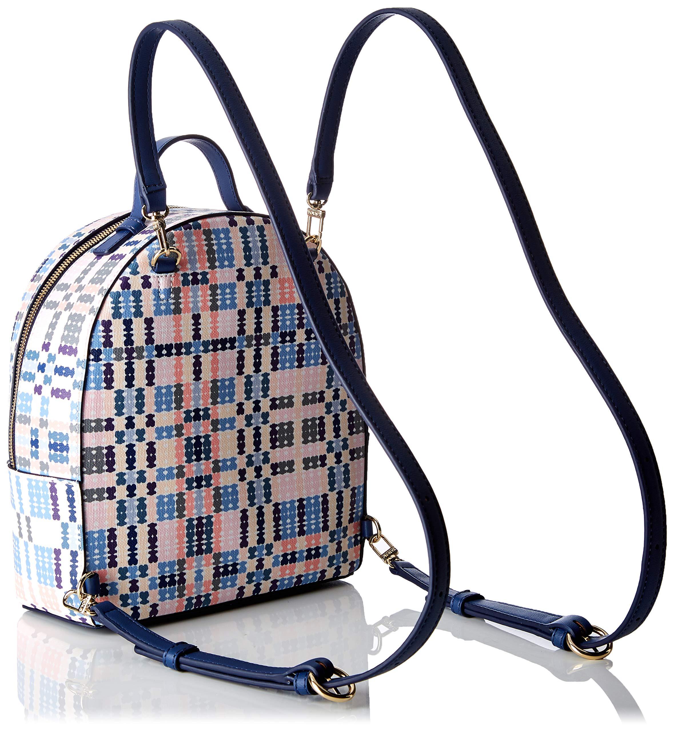91 QYIM6k9L - Tous 995800183, Bolso mochila para Mujer, Azul (Azul), 21x25x9 cm (W x H x L)