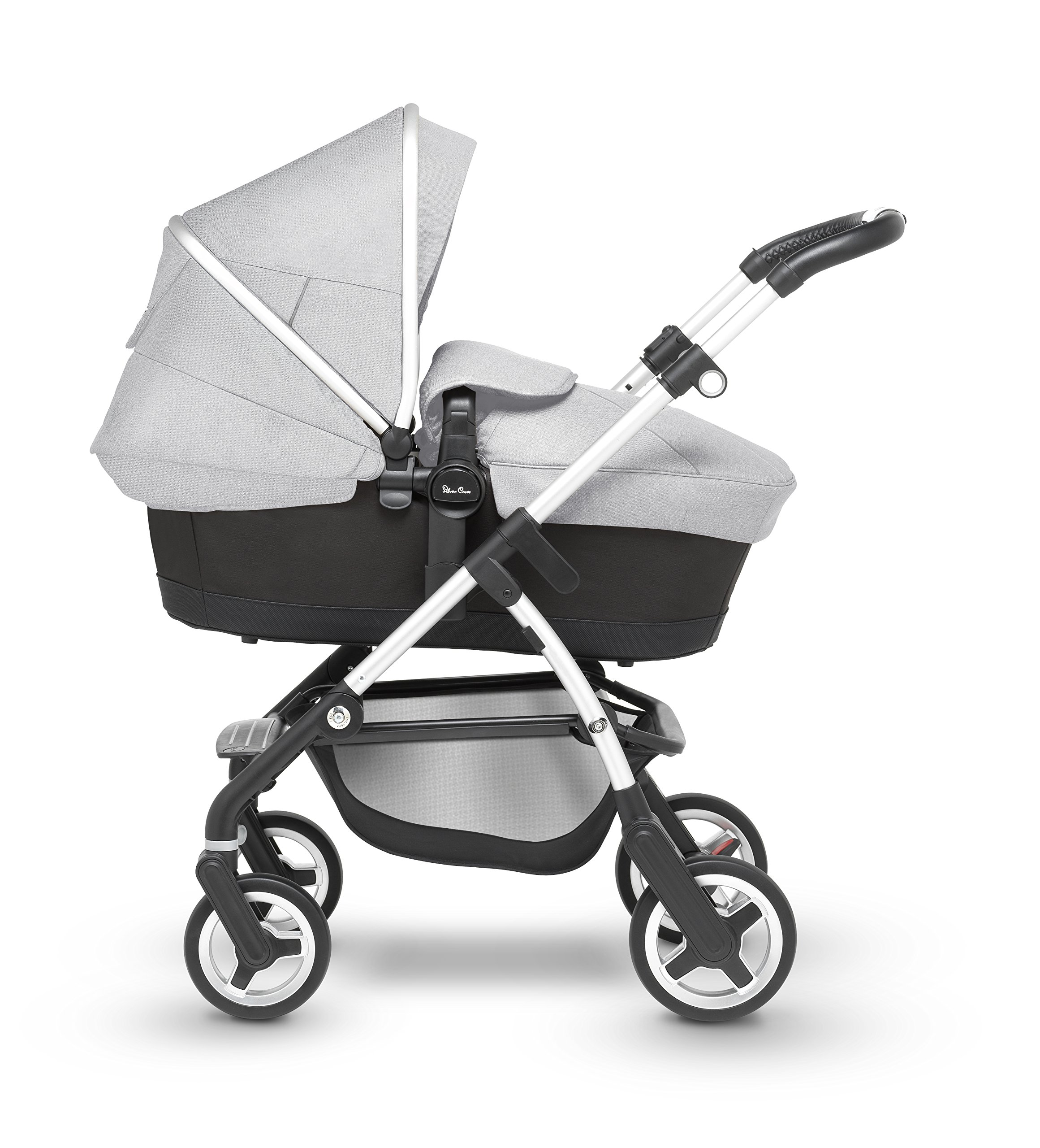 Silver Cross Wayfarer Pushchair and Carrycot, Platinum Silver Cross A complete Pram system that includes everything you need from birth to toddler Includes a lie-flat Carrycot for your new born that is suitable for overnight sleeping Includes a fully, reversible Pushchair seat unit, suitable up to 25kg 2