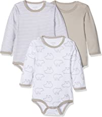 Care Unisex Baby Langarm-Body im 3er Pack