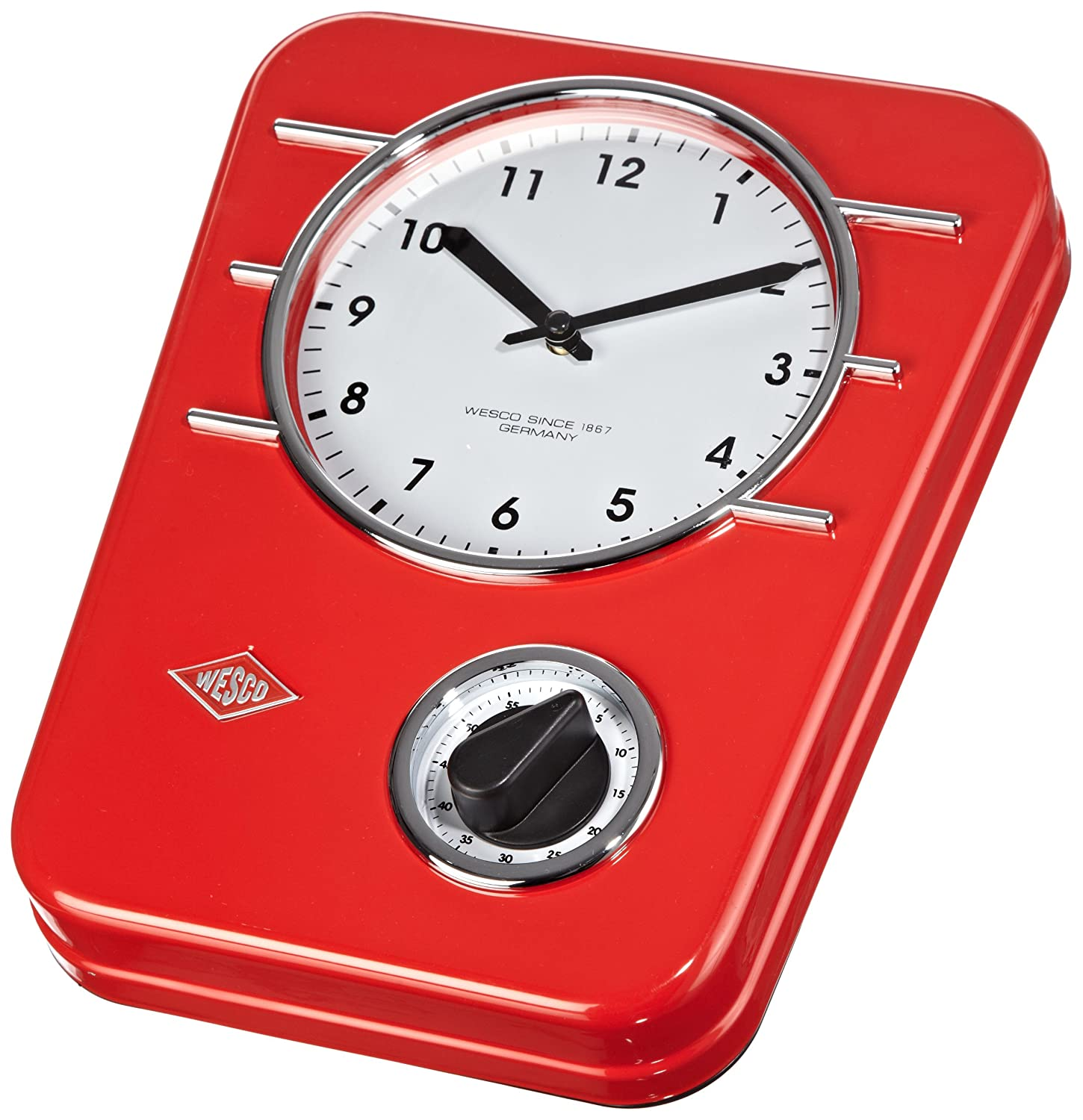 Wesco Classic Line Kitchen Clock Red Kitchen Home