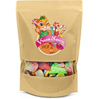 Vegan Sweets - Vegetarian - Halal Friendly - Fizzy and Fizz Free Pick n Mix Sweets Gift Bag - Large Bag of Sour, Chewy…