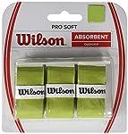 قبضة فائقة النعومة من Wilson للجنسين للبالغين Pro Soft Overgrip Pro Soft Overgrip Grip، ليموني، حزمة من 3