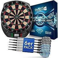 DartPro Dartscheibe elektronisch - Dartboard mit 6 Darts [kabellos nutzbar] - Innovativer Dartautomat mit 65 Varianten…