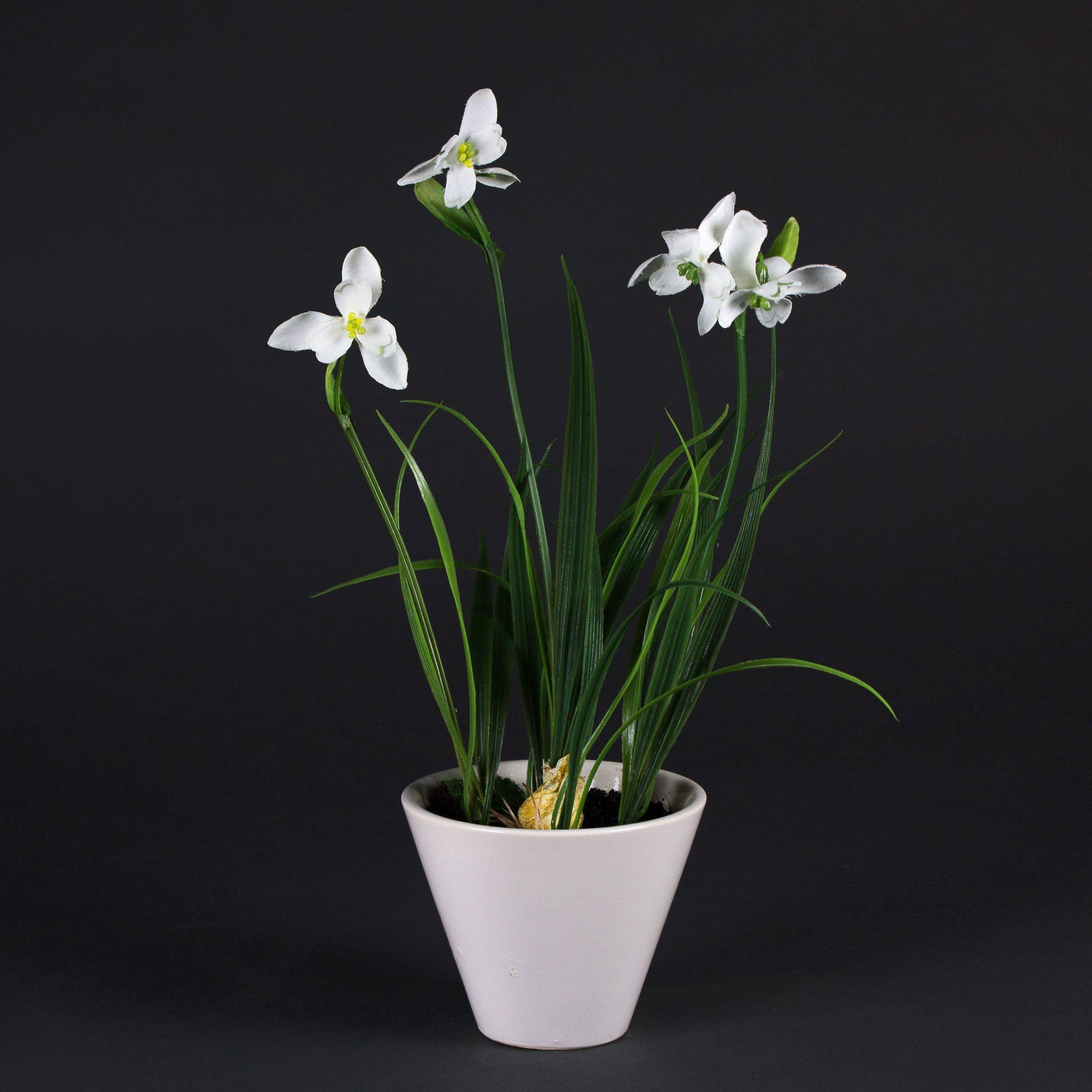 23cm Mata Decorativa Planta sint/ética artplants.de Romero Artificial en Maceta