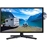 Reflexion LDDW-24 Wide-Screen LED-Fernseher (24 Zoll) für Wohnmobile mit DVB-T2 HD, DVD-Player, Triple-Tuner und 12 Volt Kfz-Adapter (12 V / 24 V, Full HD, HDMI, USB, EPG, CI+, DVB-T Antenne), schwarz