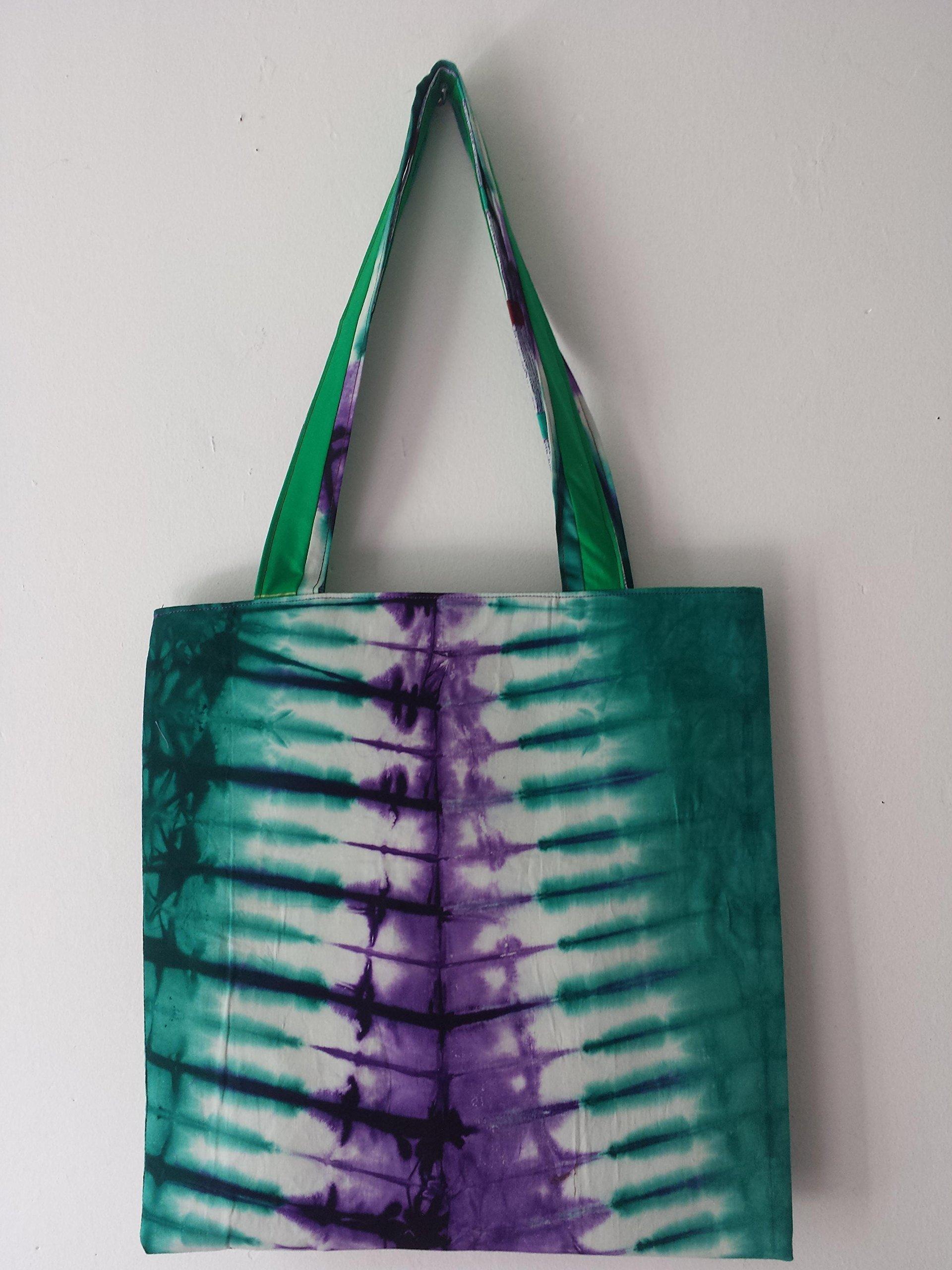 Traditional African Batik Tie dye Tote Shopper Bag - handmade-bags