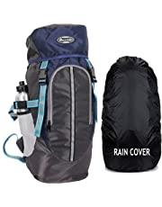 POLESTAR Hike Grey Rucksack with RAIN Cover/Trekking/Hiking BAGPACK/Backpack Bag
