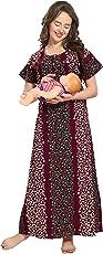 AV2 Women's Cotton Maternity Feeding Nighty