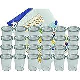 MamboCat 24er Set Weckgläser Sturzglas mit Deckel 160 ml I Original Weck Sturzglas Dessertglas I Einweckgläser mit…
