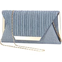 LIGUL Abend Taschen Damen,Gold Donna Clutch,Borsa Donna Elegante,Silber Abend Tasche für Frauen Shining Abend Handtasche…