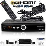 Echosat 20900 Digital Satelliten Sat Receiver - (HDTV, DVB-S/S2, HDMI, SCART, 2X USB 2.0, Full HD 1080p) [Vorprogrammiert für Astra Hotbird Türksat]