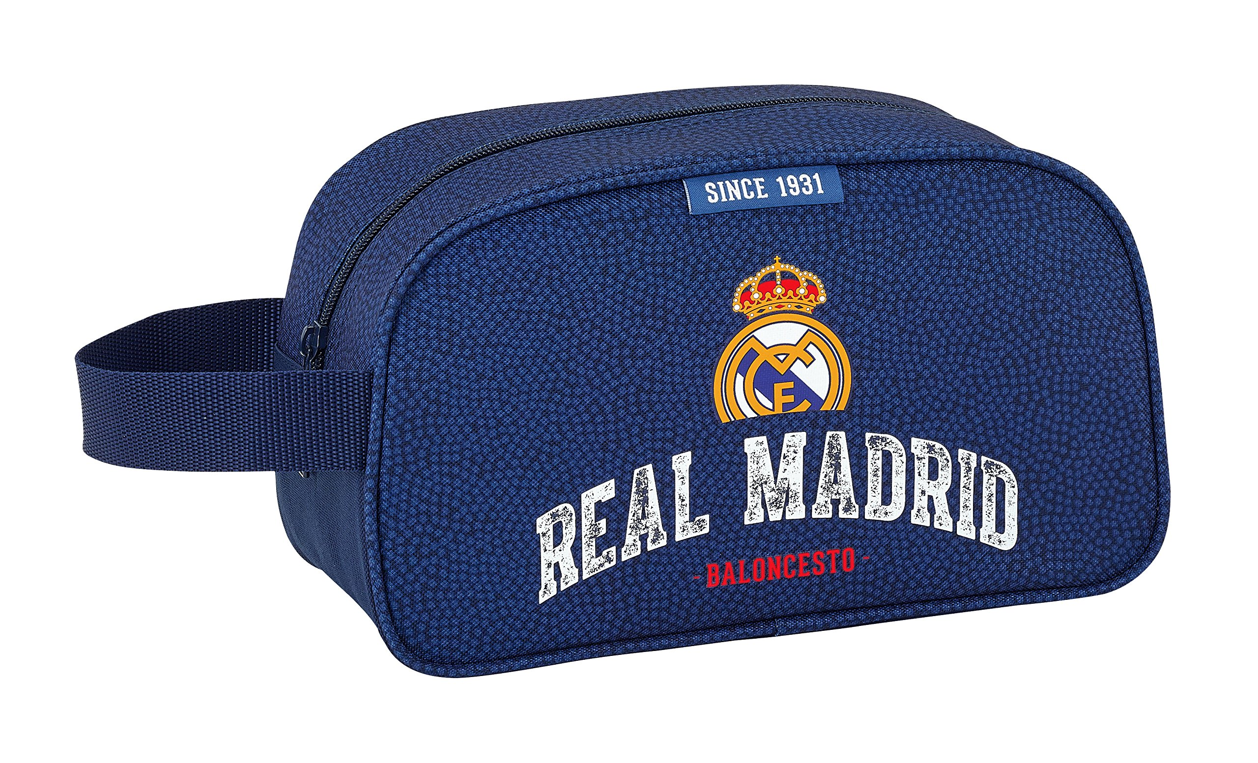 Safta Neceser Real Madrid Basket Oficial Mediano con Asa 260x120x150mm