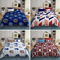 VYBBA Premium BEDSHEETS for Double Bed || 152 TC Glace Cotton Double BEDSHEET with 2 Pillow Covers King Size ( Combo of…