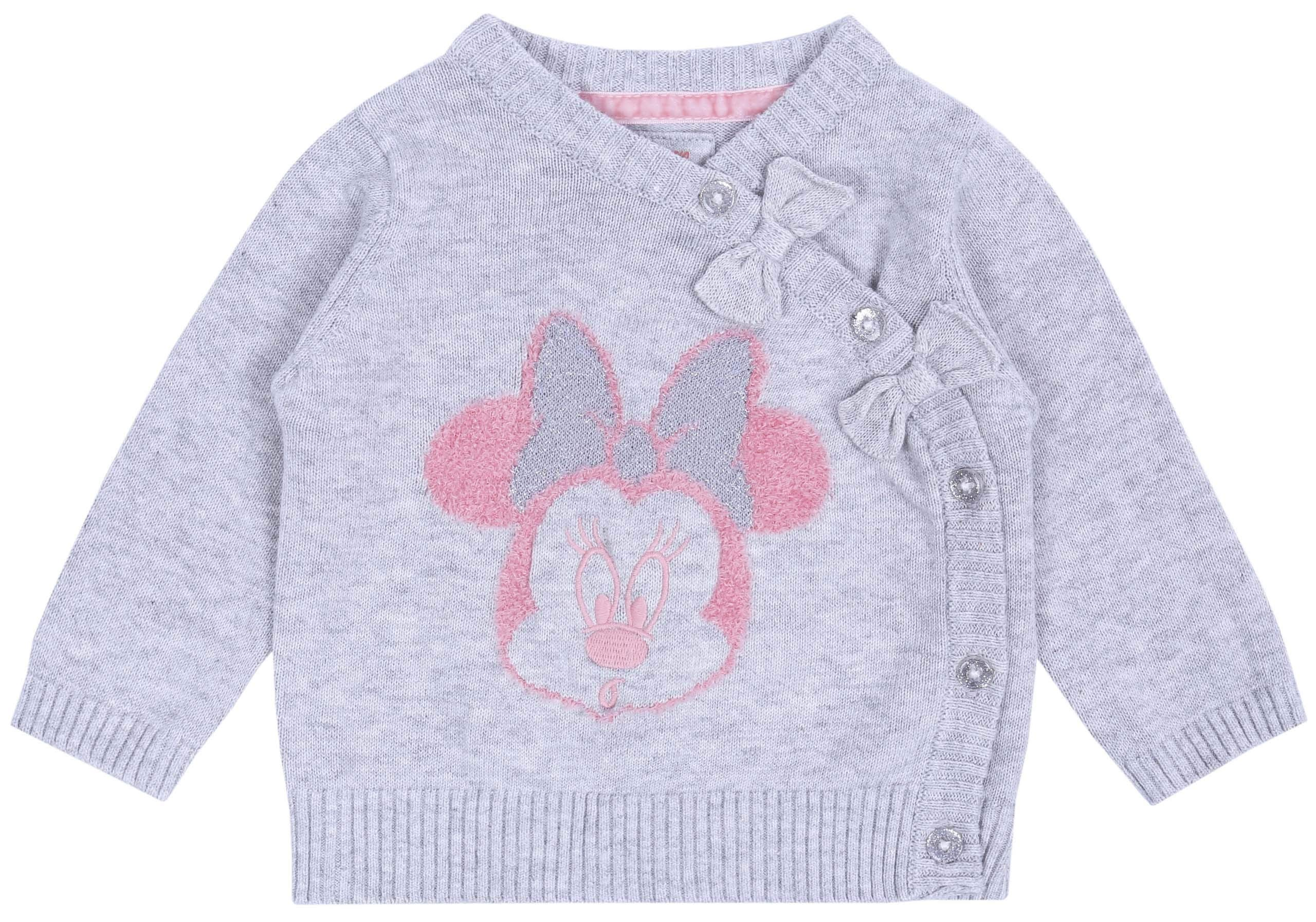 Suéter de bebé + Polainas, Color Gris-Rosa Minnie Disney 2