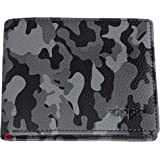 Zippo Leather bi fold Wallet Coin Pouch, 11 cm;,Grey Camouflage