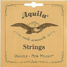 Aquila New Nylgut AQ-5 Soprano Ukulele Strings - Low G - Set of 4 Strings