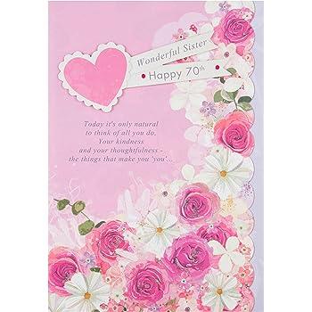 Hallmark Sister 70th Birthday Card Thoughtfulness