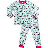 Pijama largo para niña de 5 a 11 años, diseño de unicornio, arcoíris