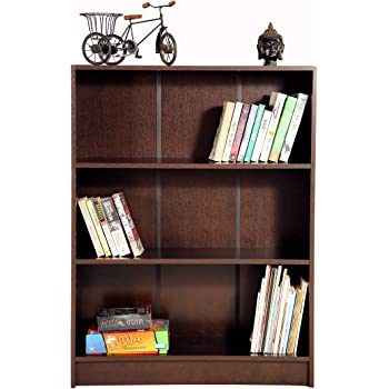Deckup Muvo Book Shelf And Storage Unit (Dark Wenge, Matte Finish)