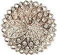 styleBREAKER Ciondolo Magnetico a Forma di Stella Rotonda ricoperto di Strass per Sciarpe, Foulard o Poncho, Spilla, Donna 05050035