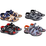 Fabbmate Combo of Multi Colour Sandals for Men | Pack of 4 | Size 6,7,8,9,10 Sandals | Boys | Casual Sandals