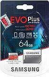 Scheda di memoria Samsung Evo Plus 64 GB microSD SDXC classe 10 Nuovo (2020) Modello fino a 100 MB / S Full HD e 4K UHD con adattatore
