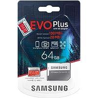 Scheda di memoria Samsung Evo Plus 64 GB microSD SDXC classe 10 Nuovo (2020) Modello fino a 100 MB/S Full HD e 4K UHD…