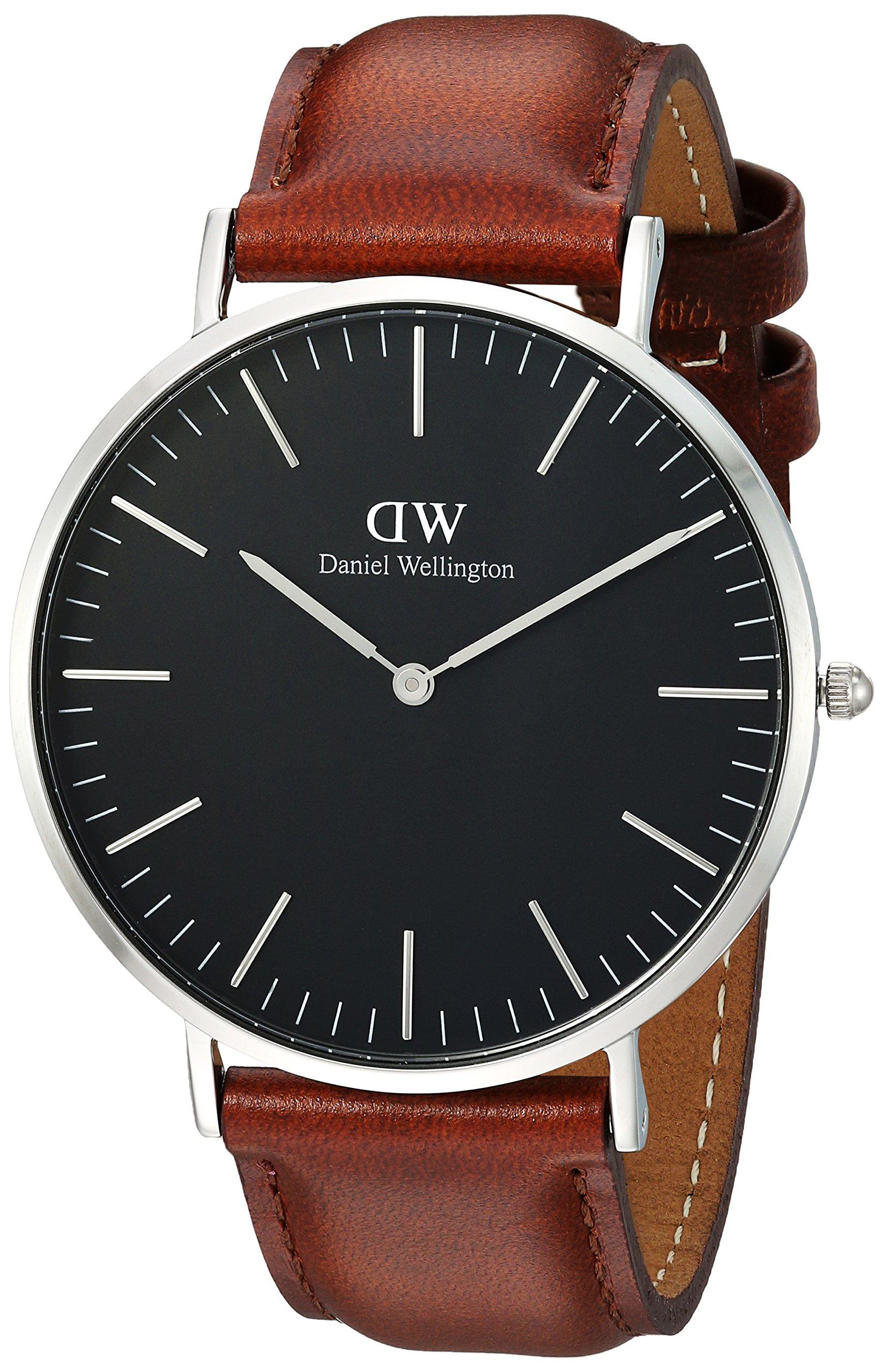 Daniel Wellington Reloj analogico para Unisex de Cuarzo con Correa en Piel  DW00100130 644c41c06261