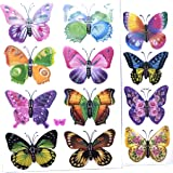 Mujigs Decorative 3D Stickers of Butterfly for Wall Sticker, Bed Room, Fridge & Chidren Room in Multicor Pack of 12pc