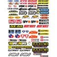 Oferta de juego de autoadhesivos para moto Motocross, panel completo, 73 unidades