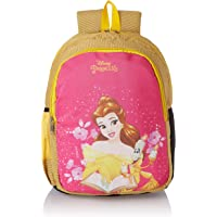 Priority Disney Princess Belle 25 litres Yellow & Pink Polyester School Bag | Casual Bags | for Girls, Kids Backpack…