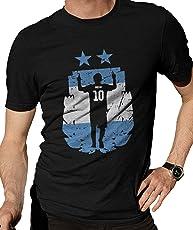 Zupaco Men's Round Neck Cotton T-Shirt Argentina National Team World Cup 2018 Theme - ZUPWCD03_S