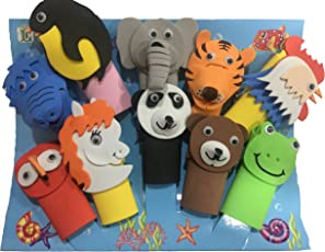 TWISHA Eva Finger Puppet Animal (Multicolour)