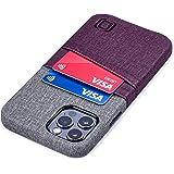 Dockem Luxe M2 Funda Cartera para iPhone 12 y iPhone 12 Pro: Funda Tarjetero Slim con Placa de Metal Integrada para Soporte M