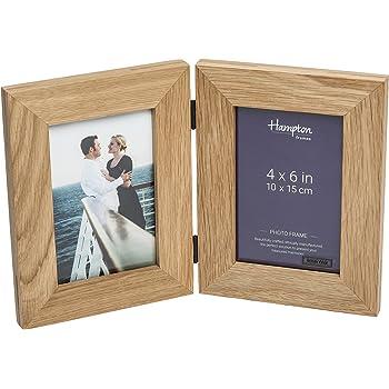 doppel bilderrahmen klappbar mit scharnier holz eiche zum aufstellen und aufh ngen. Black Bedroom Furniture Sets. Home Design Ideas