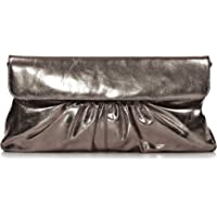 """Leder Clutch mit Metallic-Optik von """"CNTMP"""" Metallicleder Damen Leder Handtaschen, Clutch, Clutches, Clutchbags…"""