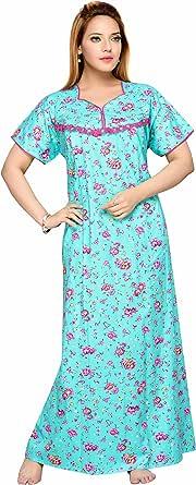 Soulemo Women's Cotton Paisley Maxi Nighty .