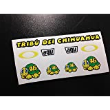 Pegatinas Casco Visera Helmet Visor Rossi ECO35 Stickers AUFKLEBER Moto GP Vinyls ADESIVI Decals