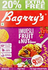 Bagrry's Crunchy Muesli, Fruit and Nut with Cranberries, 480g