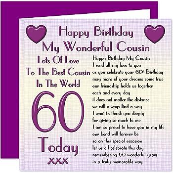 Cousin 60th Happy Birthday Card