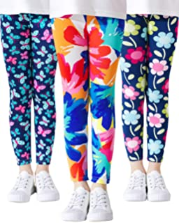 Adorel Leggings Stretch Stampati Calzamaglie Bambina 3 Pack