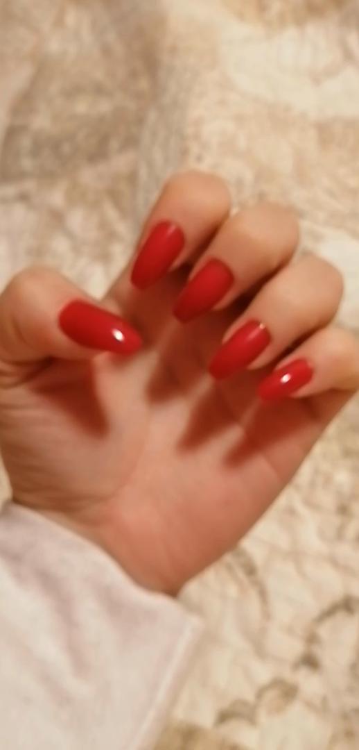 Bling Art Uñas Postizas Rojo Pulido Bailarina 24 Ataúd Longe ...