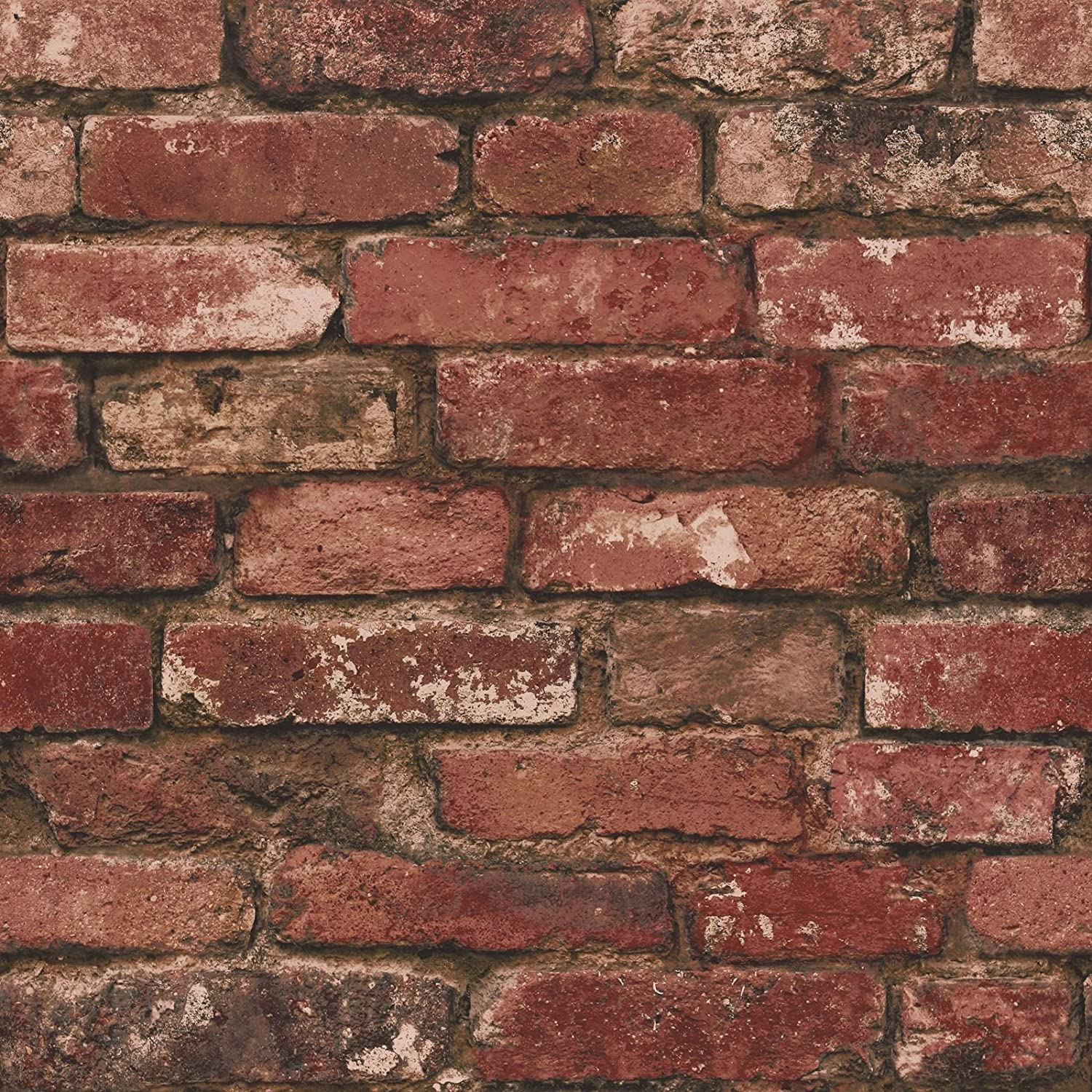 Textured Brick Wallpaper Uk Part - 30: Brewster FD31285 Rustic Brick Wallpaper, Red: Amazon.co.uk: DIY U0026 Tools