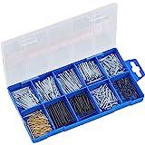 Connex nagelassortiment 485-delig - nagels & kammen set - voorgesorteerd in praktische plastic doos - geschikt voor huis, hob