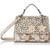 Laura Vita Womens 4233 Sling, Handle Bag, Beige, Medium