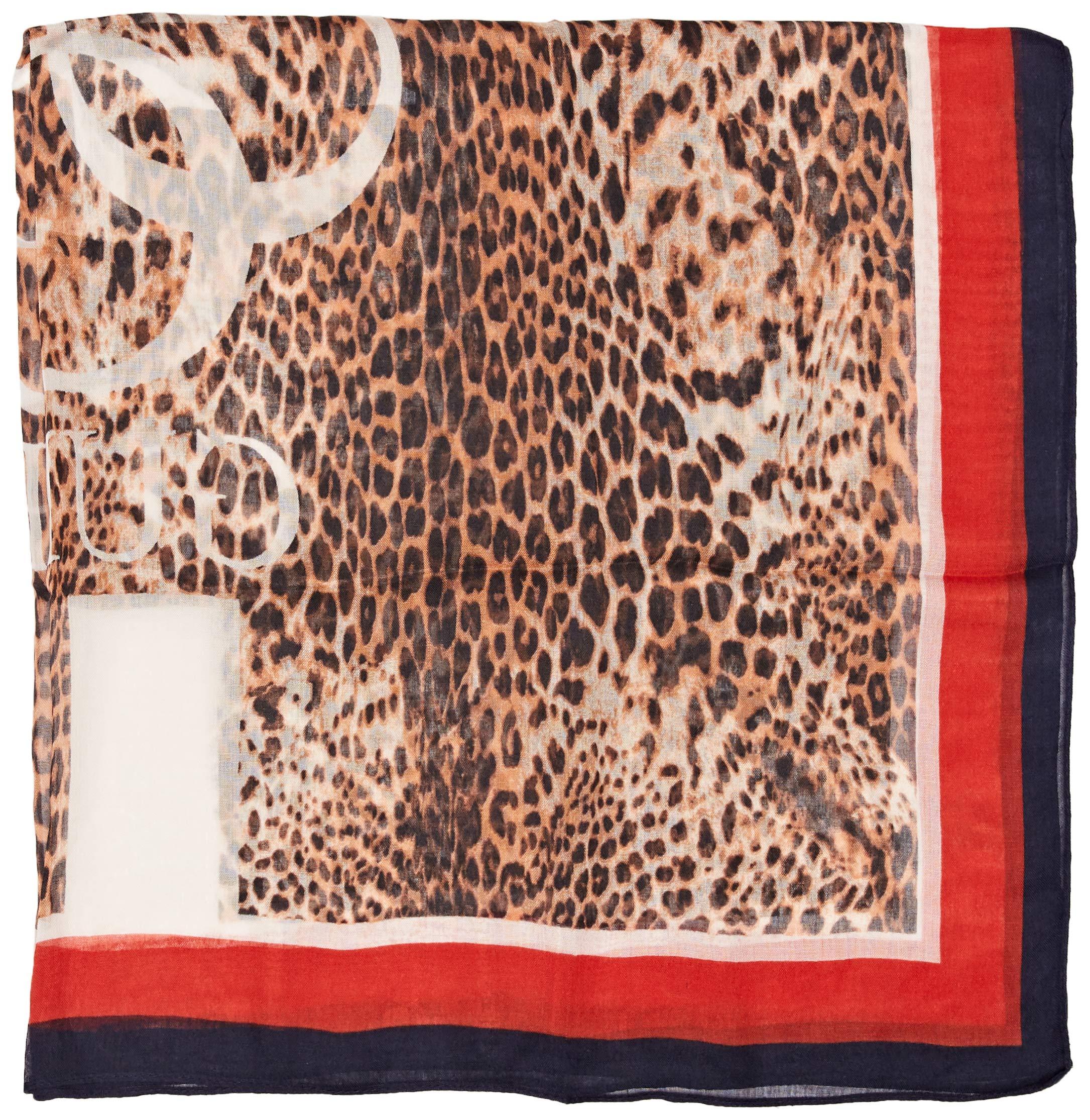 Guess Sciarpe Leopard 4g Foulard Pañuelo, Multicolor (Jungle Passion Pz16), Talla única (Talla del fabricante: ONE) para…