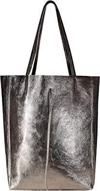 SKUTARI® LEDER VITTORIA Brillante | Damen Shopper | glänzende Handtasche | Schultertasche | eingenähter Innentasche | Ledertasche | Beuteltasche | Umhängetasche | MADE IN ITALY