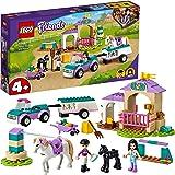 LEGO 41441 Friends Paardentraining en Aanhanger Set met Veulenstal, Paarden Speelgoed met Poppetjes voor Kinderen van 4 jaar